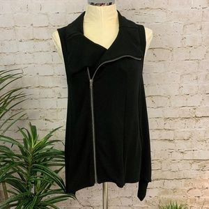 Cable & Guage Asymmetrical Front Zip Vest